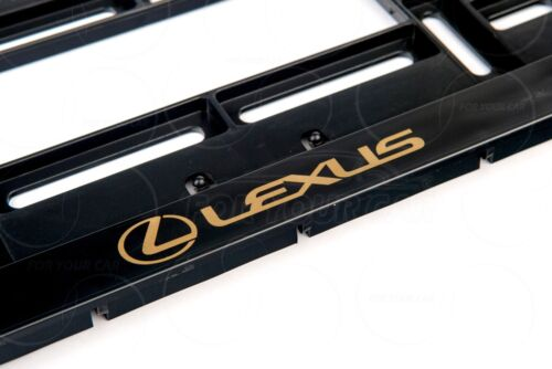 1x LEXUS BIG LOGO EXCLUSIVE USA LICENSE NUMBER PLATE SURROUNDS HOLDER BLACK