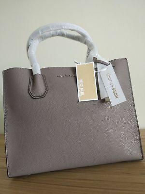 Michael Kors Mercer Large Leather Tote +price tag, care card, QR code, dust bag | eBay