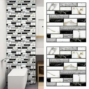 3d Wall Tile Stickers Kitchen Bathroom Mosaic Self Adhesive Home Decor 30x30 Au Ebay