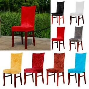 Paddy Stretch Dining Room Chair Cover Hotel Banquet Seat Slipcovers 8 Colors