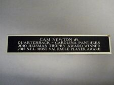 Cam Newton Panthers Nameplate for a Football Jersey Display Case 1.5 X 8