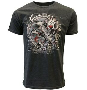 IRON-FIST-T-SHIRT-HOOKED-UP-MEN-CHARCOAL-TEE