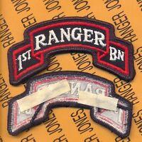 1st Bn 75th Infantry Airborne Ranger Regiment uniform scroll patch m/e