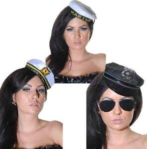 Women Sexy Mini Police Sea Captain Marine Cap Sailor Hat Ladies ... 64dee9c7a629