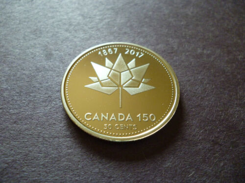 150th Anniversary 2017 Canada Proof Frosted 50 Cents **Nickel Finish**