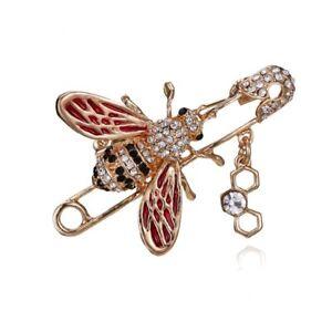 Fashion-Lovely-Rhinestone-Crystal-Bee-Animal-Breastpin-Brooch-Pin-Women-Jewelry