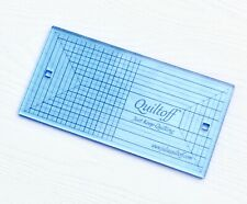 """Fluorescent Blue 10""""x5"""" Thick 1//4"""" Rectangle machine quilting ruler"""