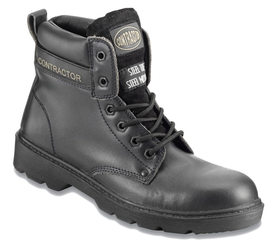 Mens Contractor Black 6  Boot Various Size 802SM