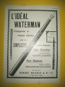 Publicite-de-Prensa-Waterman-Boligrafo-Pluma-Modelos-Regular-y-Safety-Ad-1908