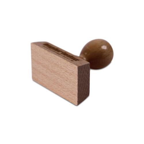 Holzstempel 70mm breit Adresstempel eigenem Text // Logo inkl Firmenstempel