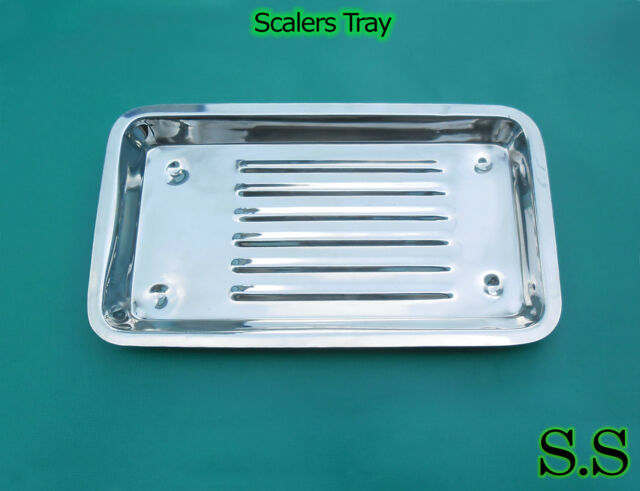 Scaler Tray 7.5''(19cm)x4''(10cm)x0.5''(1.5cm) Dental Surgical Medical