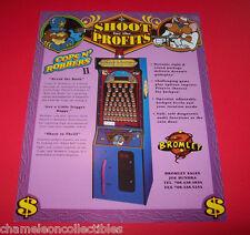 PRIZE TREE COPS N ROBBERS 2  By BROMLEY 1995 ORIGINAL ARCADE GAME FLYER BROCHURE