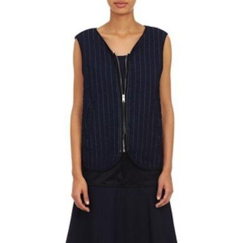 Xs Striped Bone Quilted Nwt Tilbage 886000804004 Kvinders Rag 550 Weaver Indigo Lace Up Vest BqwC6zv6