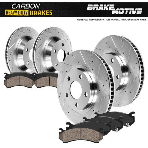 Carbon Ceramic Pads For 2015-2017 Transit 150 250 350 Front+Rear Brake Rotors