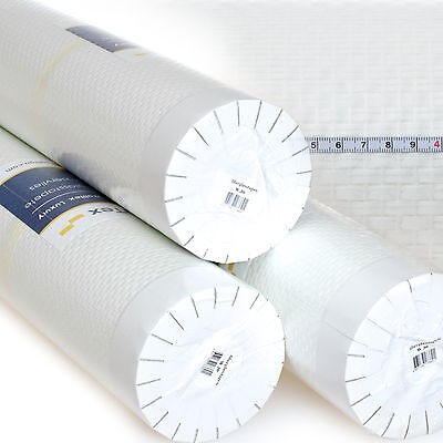 Glasfasertapete Glasfaser Tapete 25m² Rolle Glasfasergewebe Doppelkette grob w30