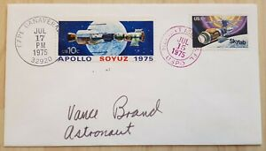 Nasa ASTP CP Vance Brand original signed Space Cover, Space Shuttle, Astro, USA