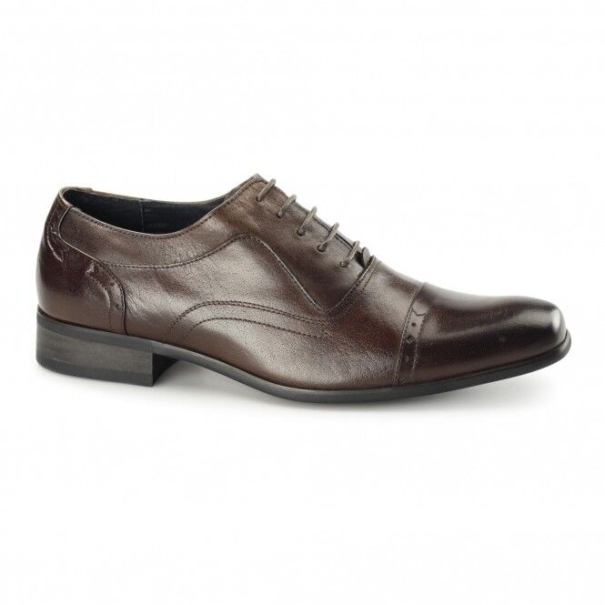 Azor PADOVA Oxford Leather Smart Office Formal Brogue shoes Sz UK 8-9