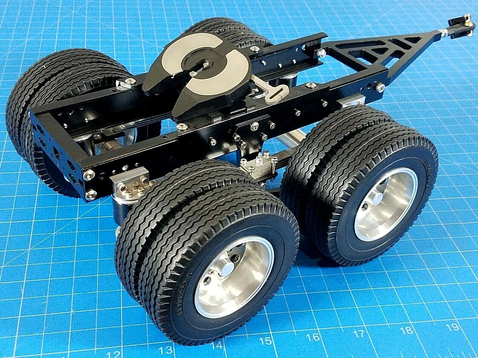 Tamiya 1 14 R c Semi Remolque de tractor 2 EJES DOLLY acoplador de rueda de clavijas de montaje 5th