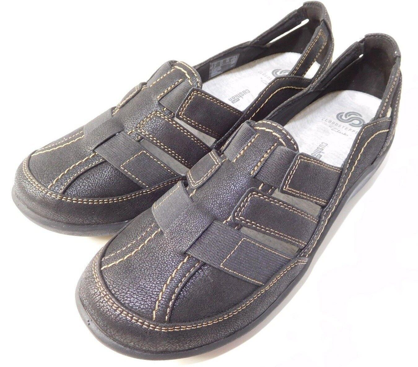 Women's Clarks Sillian Stork Slip Slip Slip on Comfort Summer Loafers US 7.5 M Black NEW 1 2aee9b