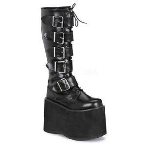 7ea676d7cb8e DEMONIA MEGA-618 Women s Punk Goth Huge Platform Black Industrial ...