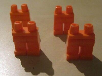 Brioso Lego Minifigura Fianchi E Gambe (73200/88584) X 4 In Arancione (ottime Condizioni)-mostra Il Titolo Originale