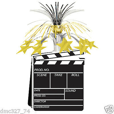 HOLLYWOOD Movie Night Awards Party Decoration Movie Set CLAPBOARD CENTERPIECE