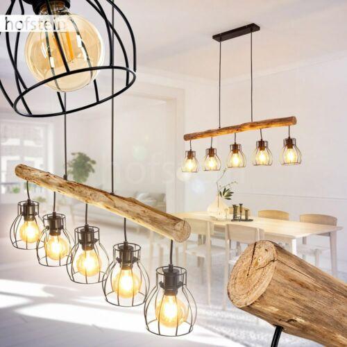 Vintage Ess Wohn Schlaf Zimmer Leuchte Holz//schwarz Pendel Hänge Lampe 5-flammig