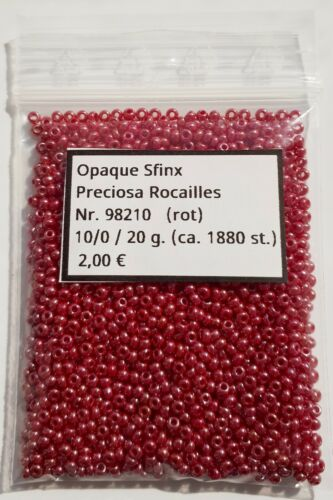Preciosa Rocailles Perlen 10//0 2,3 mm 20,10 5 g Nr.: 98210 Opaque Sfinx: Fb