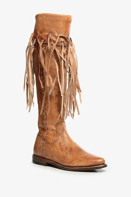 NIB Bed Stu Hoplia Fringe Trim Riding Stiefel 7.5  365