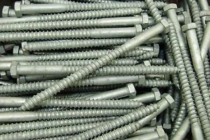 50-Galvanized-Hex-Head-3-8-x-6-034-Lag-Bolts-Wood-Screws
