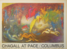 Marc Chagall Lithographie Chagall At Pace 1977 signiert
