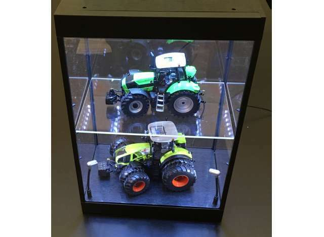 AT 32910 für 2 Modele LED Vitrine Show Case mit Beleuchtung 1 50 1 18 1 32 NEU