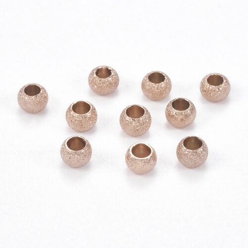 20x 304 Stainless Steel Stardust Metal Bead Round Bumpy Loose Spacer Beads 4~8mm