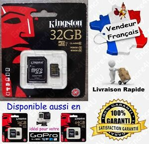90-MB-s-KINGSTON-Micro-SD-SDHC-32-Go-Carte-Memoire-Class-10-dispo-aussi-16-64-Gb