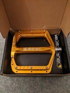 "Burgtec Mk5 pedals Gold "" Bullion"" New"