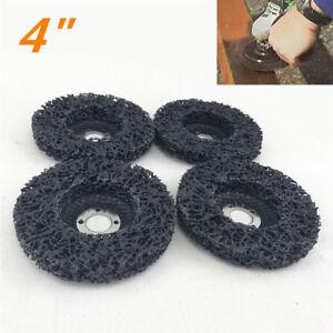 4x-Metal-Black-4-034-Polishing-Grinder-Disc-Car-Rust-Tar-Bug-Remover-Abrasive-Wheel