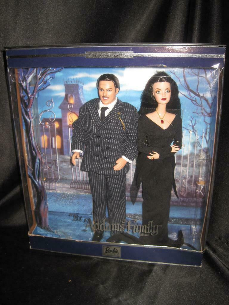 2000 Barbie ADDAMS FAMILY CHARLES & MORTICIA Giftset Collector Ed   27276  NRFB