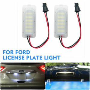 2x-LED-luz-de-la-placa-de-licencia-numero-para-Ford-Fiesta-Focus-C-Max-Kuga-Mondeo-Jaguar
