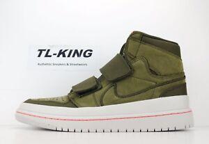Nike-Air-Jordan-1-Retro-High-Double-Strap-Olive-Canvas-Cone-Bone-AQ7924-305-EW