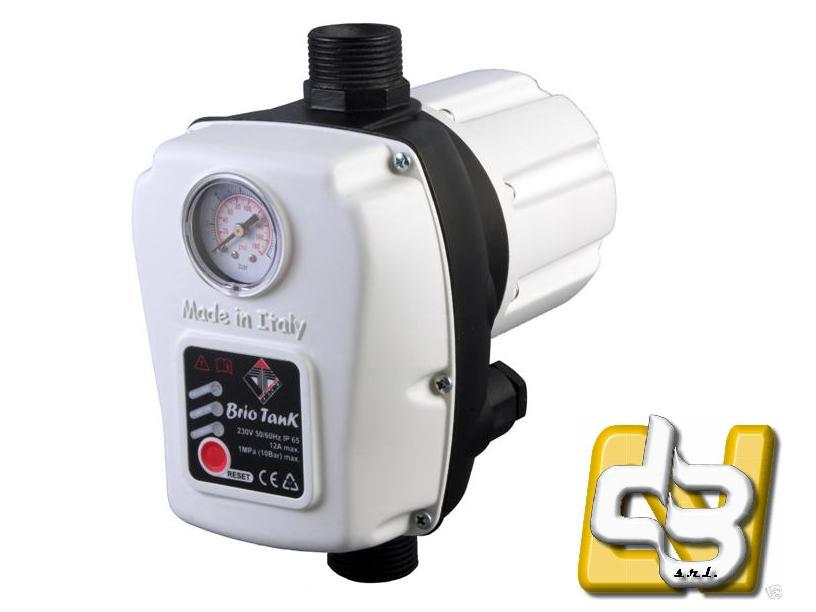 BRIO TANK ITALTECNICA Regolatore di pressione acqua per Elettropompe monofase