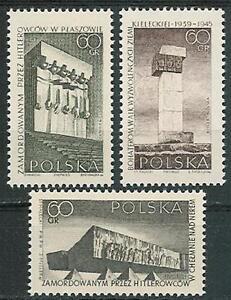 Poland stamps MNH (Mi. 1632-34) War victim memorials - Bystra Slaska, Polska - Poland stamps MNH (Mi. 1632-34) War victim memorials - Bystra Slaska, Polska