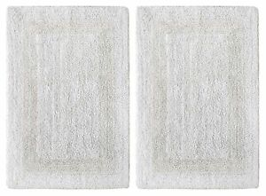 Cotton Bathmats Rugs Toilet Covers EBay - Black and white tweed bath rug for bathroom decorating ideas
