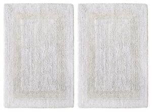 Cotton Bathmats Rugs Toilet Covers EBay - Black and white tweed bath rug for bathroom decorating ideas