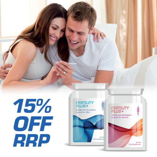 Baby Bundle Fertility Plus Fertility /& Conception Support Pills for Men /& Women
