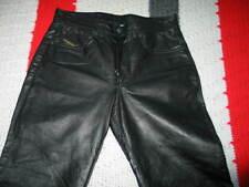 Men's Diesel Black Gold Pelle Leather Pants, Size 28