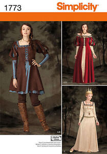 Simplicity-1773-Sewing-PATTERN-Fantasy-Larping-Cosplay-Dress-Costume-H5-6-14