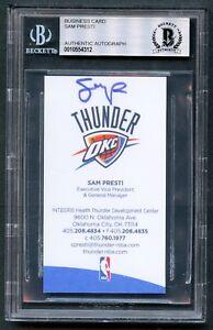 Sam-Presti-signed-autograph-auto-OKC-Thunder-VP-amp-GM-Business-Card-BAS-Slabbed
