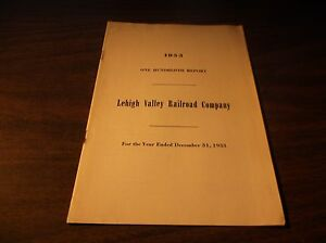 1953-LEHIGH-VALLEY-RAILROAD-COMPANY-ANNUAL-REPORT