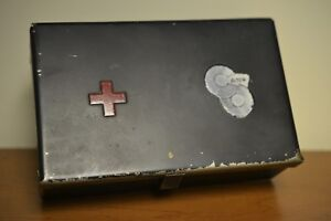 First-Aid-Kit-Box-From-Chesapeake-And-Ohio-Railway-Vintage-Tin-Medical-Red-Cross