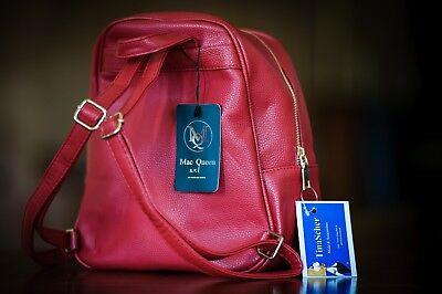Rucksack Sporttasche Schultertasche Damentasche klein Reisetasche Backpack Rot